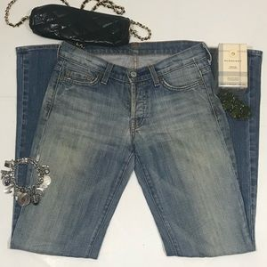 7 for all Mankind Boy Cut button fly jeans